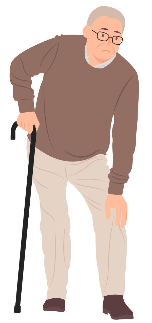 Antalgiás – fájdalomkerülő – tartás derék és/vagy térdfájdalom esetén